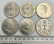 x6 GB Five Shillings or Crowns - 1960's - includes WINSTON CHURCHILL (C035)