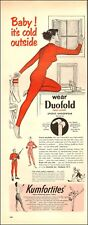 1956 vintage Ad DUOFOLD 2 layer sports underwear  His Hers long johns 100717