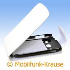 Flip Case Etui Handytasche Tasche Hülle f. Samsung GT-S6810P / S6810P (Weiß)