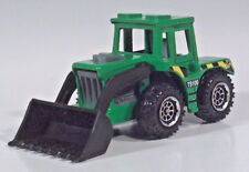 "Matchbox TS100 Tractor Shovel Nose Scoop 3"" Diecast Scale Model Green"