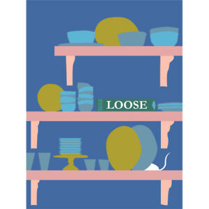 Scotland Mouse Loose House Kitchen Canvas Wall Art Print