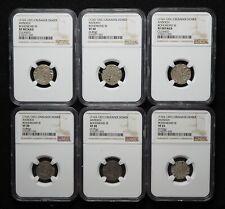 CRUSADERS. Bohemond III Silver Denier, 1163-1188 AD. NGC Certified lot of 6