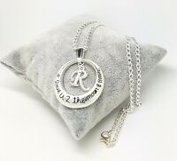 I Love You To The Moon And Back Letter Initial  Necklace Free Gift Bag Christmas