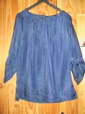 Blouse Bleu nuit,Manches 3/4,Taille 40,marque Emoi by Emonite,quasi neuf!