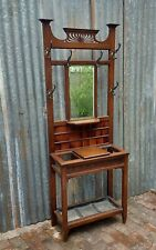 More details for small arts craft hall stand oak good quality.