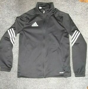 **ADIDAS** Size 13-14 Years Black Zip Up Top