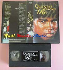 film VHS QUANDO ERAVAMO MUHAMMAD ALI WHEN WE RE WERE KINGS 1996  (F74**) no dvd