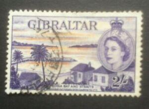 GIBRALTAR 1953-1959 DEFINS SG155a FINE USED