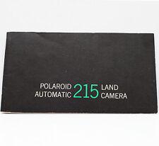 Vintage Polaroid 215 Pack Film Land Camera Manual Instructions Guide 1967