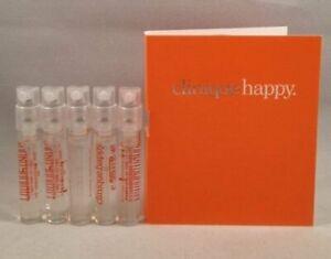 5 Clinique Happy Perfume for Women 1.5 ml/0.05 oz Spray Vial Travel Sample Lot