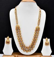 Indian Southwest Boll Beaded Necklace Earrings Beautiful Jewelry Set