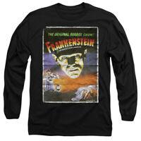 UNIVERSAL MONSTERS FRANKENSTEIN Licensed Adult Men's Long Sleeve T-Shirt SM-3XL