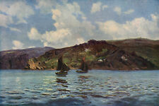 HENRY MOORE 1885 Oil Painting CATSPAWS OFF THE LAND Vintage 1930 Art Book Print