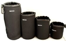 Any 4 pcs Matin Neoprene Camera Lens Pouch Case Bag Small Medium Large X-Large