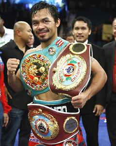 Boxing World Champion Boxer MANNY PACMAN PACQUIAO Glossy 8x10 Photo Belt Print
