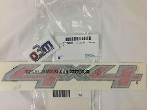 Chevrolet Silverado/ Cheyenne Red/Silver/Black 4X4 DECAL EMBLEM new OEM 23269921