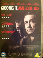 GOOD NIGHT & Good Luck ~ 2005 George Clooney McCarthy Witch Hunt Drama GB DVD