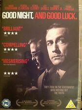 GOOD NIGHT & GOOD LUCK ~ 2005 George Clooney McCarthy Witch Hunt Drama UK DVD