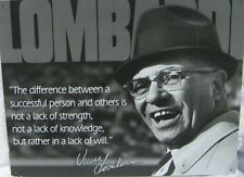 Vintage Replica Tin Metal Sign Vince Lombardi football player coach poster 1727