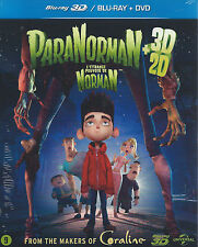 nw  BLUE RAY  +  DVD set - PARA NORMAN 3D + 2D - ENGLISH FRANCAIS VLAAMS NL