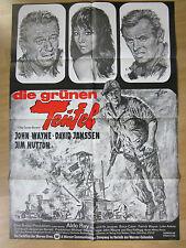 Filmposter * Kinoplakat * A1 * Die grünen Teufel * WA 70er * John Wayne