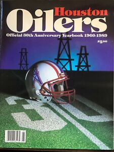HOUSTON OILERS OFFICIAL 30TH ANNIVERSARY YEARBOOK 1960-1989 EXCELLENT