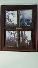 """Bradford Exchange Collector Set Of 4 """" Natures Majesty"""" Series by Daniel Smith"""