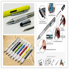 Multi Function Touch Screen Stylus Pen With Spirit Level Ruler Handy Screwdriver