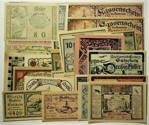 Austria Germany Notgeld Lot of 30 Different Notes #11366