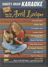 Singers Dream Karaoke Sing the Hits of Avril Lavigne DVD 2005 With Lyric Book