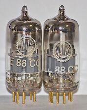 E88CC PHILIPS Gold Pins VALVO BRANDED matched pair NOS  ECC88 6DJ8 6922 Heerlen