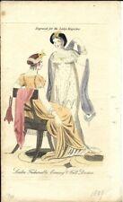 LADY'S MAGAZINE      Regency Fashion Plate     MARCH 1809         EVENING DRESS