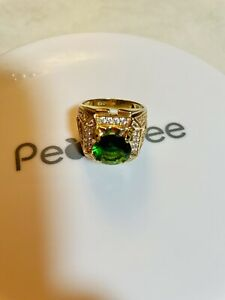 18K Solid Gold Emerald Ring