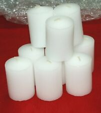 4-15 Hour Unscented Votive White Candles~Longer Burn~Made-In-The-USA~BULK