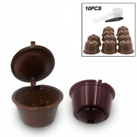 10Pcs Refillable/Reusable Coffee Capsule Pods Cups Set For Nescafe Dolce Gusto