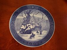 1967 Denmark Royal Copenhagen The Royal Oak Cobalt Blue Plate Kai Lange