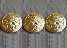 12PCS Antique Bronze Metal Dragon Round Shank Button Coat Sewing Embellishment