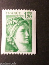 FRANCE 1980, timbre 2103, type SABINE, VARIETE ESSUYAGE, neuf**, VF VARIETY MNH