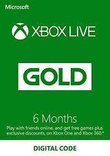 6 MONTHS XBOX LIVE GOLD Key (XBOX ONE/360) - VPN: US/BRAZIL - Read Description