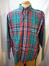 GANT Green Red Foxhunt Plaid Mens Long Sleeve Shirt Size XL