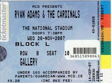 Ryan Adams & The Cardinals ORIGINAL Concert Ticket - Dublin Ireland 28 Nov 2007