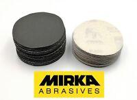 """75mm 3"""" Mirka Hook & Loop 77mm Sanding Discs P40-P600 DA Sandpaper Pads / VAT"""