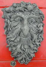Green Man Plaque Stone Garden Ornament Hand Cast by Bekki 11x7x12 cms 1750 grams