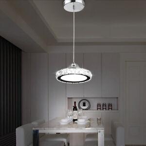 Crystal Round LED Pendant Light Chandelier Lamp Ceiling Fixture Home Decor