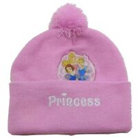 Disney Princess Toddler Girl's Purple Hat & Scarf Winter Set Sz. 2-4T