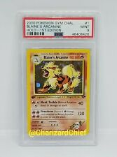FIRST EDITION BLAINE'S ARCANINE HOLO GYM CHALLENGE COLLECTION 1/132 1ST ED PSA