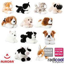 """Aurora LUV TO CUDDLE Plush Soft Toy Animals Size 28cm (11"""") Children's Gift"""