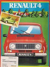 Renault 4 GTL 1108cc Estate 1982-83 UK Market Foldout Sales Brochure