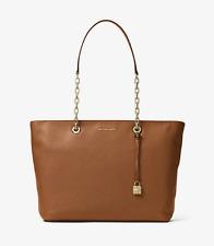NWT Michael Kors Handbag Studio Mercer Chain-Link Leather Tote Shoulder Bag $298