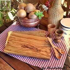 Tabla de desayuno Set Madera de olivo Madera Cortar Huevera Cuchara